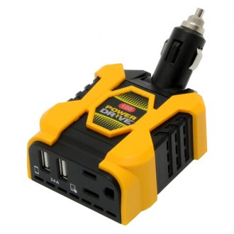 DAS® - Powerdrive DC-AC 100W Swivel-Neck Power Inverter with Lighter Plug