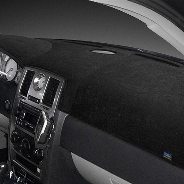 Image may not reflect your exact vehicle! Dash Designs® - Brushed Suede Black Dash Cover