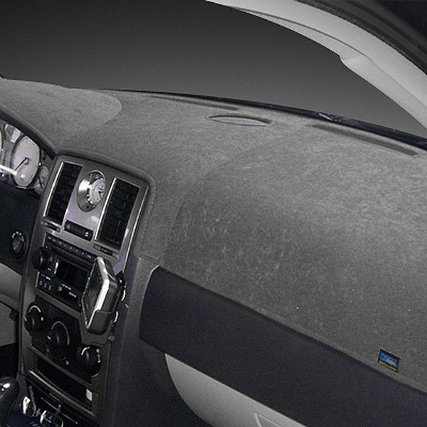 Image may not reflect your exact vehicle! Dash Designs® - Brushed Suede Charcoal Dash Cover