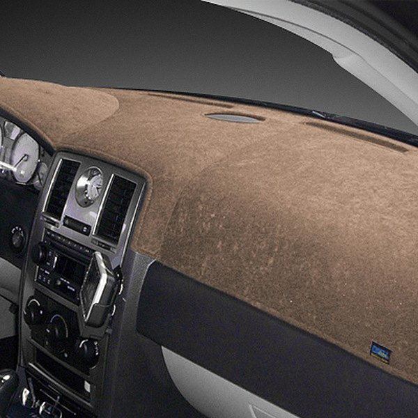 Image may not reflect your exact vehicle! Dash Designs® - Brushed Suede Taupe Dash Cover