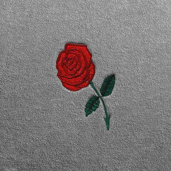 Dash Designs Lg188 Red Rose Embroidery Logo