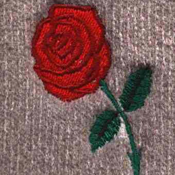 Dash Designs® - Red Rose Embroidered Logo