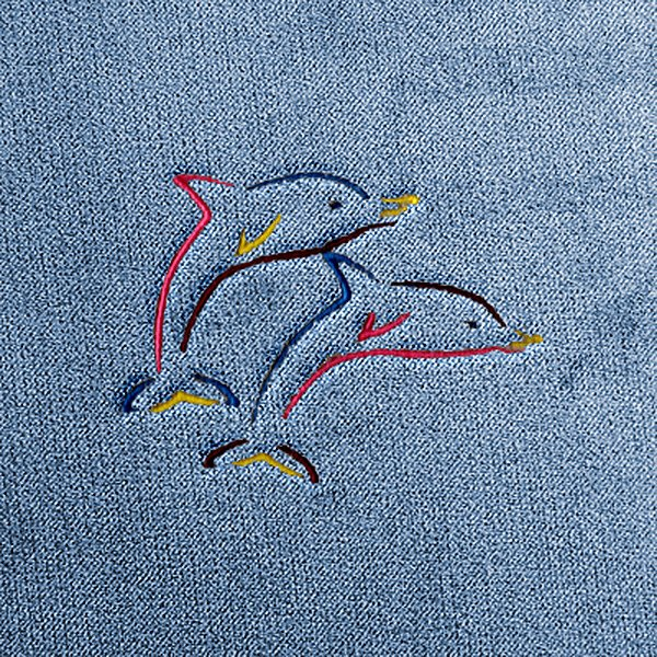 Dash Designs® - Dolphins Embroidered Logo