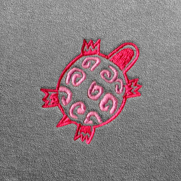 Dash Designs Lg289 Indian Turtle Embroidery Logo