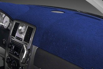 Dash Designs® - Dash-Topper™ Plush Velour Dark Blue Dash Cover (With Climat Control)
