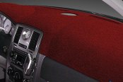Image may not reflect your exact vehicle! Dash Designs® - Plush Velour Maroon Dash Cover