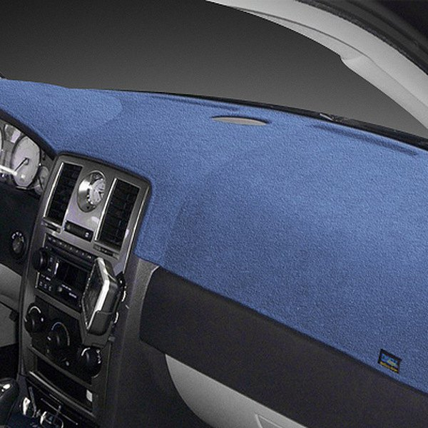 Image may not reflect your exact vehicle! Dash Designs® - Plush Velour Medium Blue Dash Cover