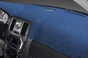 Image may not reflect your exact vehicle! Dash Designs® - Plush Velour Ocean Blue Dash Cover