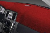 Image may not reflect your exact vehicle! Dash Designs® - Plush Velour Red Dash Cover
