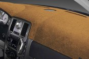 Image may not reflect your exact vehicle! Dash Designs® - Plush Velour Saddle Dash Cover