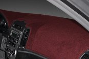 Image may not reflect your exact vehicle! Dash Designs® - Poly-Carpet™ Maroon Dash Cover