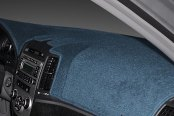 Image may not reflect your exact vehicle! Dash Designs® - Poly Carpet Medium Blue Dash Cover