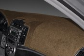 Image may not reflect your exact vehicle! Dash Designs® - Poly-Carpet™ Mocha Dash Cover