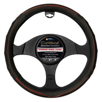 Dash Designs® - Comfort Grips™ Contourz Pro Grip Leather Steering Wheel Cover
