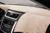 Image may not reflect your exact vehicle! DashMat® - VelourMat™ Beige Custom Dash Cover