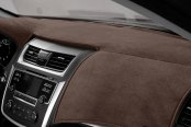 Image may not reflect your exact vehicle! DashMat® - VelourMat™ Cocoa Custom Dash Cover