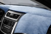 Image may not reflect your exact vehicle! DashMat® - VelourMat™ Blue Custom Dash Cover
