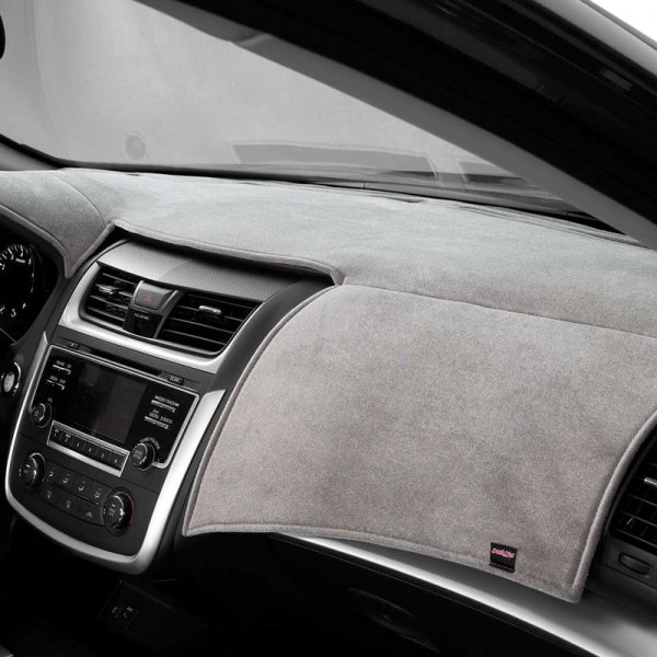 Image may not reflect your exact vehicle! DashMat® - VelourMat™ Gray Custom Dash Cover