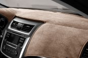 Image may not reflect your exact vehicle! DashMat® - VelourMat™ Latte Custom Dash Cover