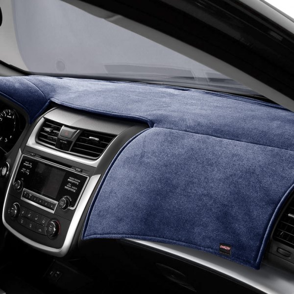 Image may not reflect your exact vehicle! DashMat® - VelourMat™ Navy Custom Dash Cover