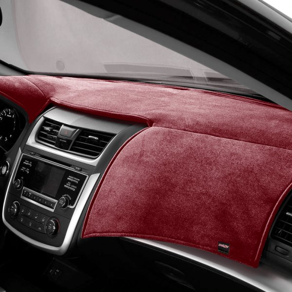 Image may not reflect your exact vehicle! DashMat® - VelourMat™ Red Custom Dash Cover
