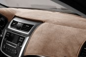 Image may not reflect your exact vehicle! DashMat® - VelourMat™ Taupe Custom Dash Cover