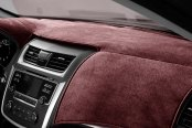 Image may not reflect your exact vehicle! DashMat® - VelourMat™ Wine Custom Dash Cover