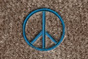"DashMat® - Embroidery ""Peace Sign"" Logo"