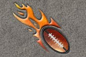 "DashMat® - Embroidery ""Flaming Football"" Logo"
