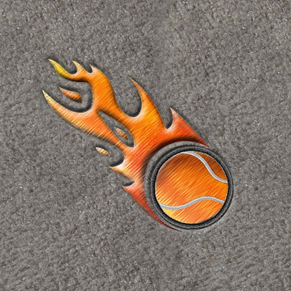 "DashMat® - Embroidery ""Flaming Tennis Ball"" Logo"