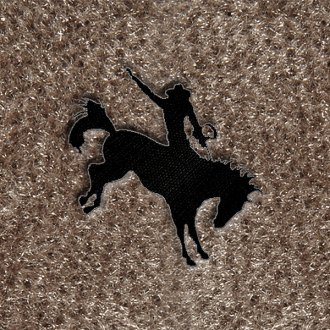 "DashMat� - Embroidery ""Bucking Horse"" Black Logo"