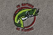"DashMat® - Embroidery ""I'D Rather Be Fishing"" Logo"
