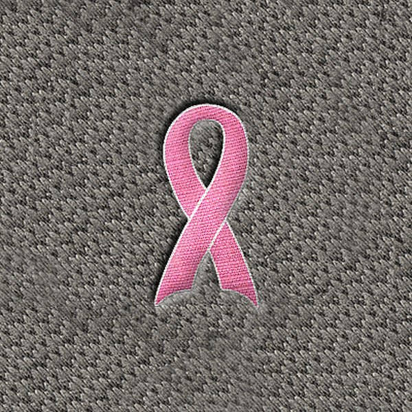 "DashMat® - Embroidery ""Pink Support Ribbon"" Logo"