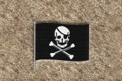 "DashMat® - Embroidery ""Pirate Flag"" Black Logo"