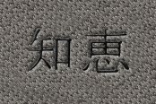 "DashMat® - Embroidery ""Kanji Wisdom"" Black Logo"