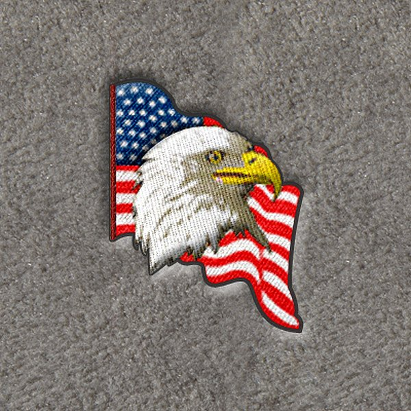 "DashMat® - Embroidery ""U.S. Flag with Eagle"" Logo"