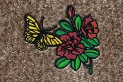 "DashMat® - Embroidery ""Butterfly & Flowers"" Logo"