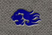 "DashMat® - Embroidery ""Leo"" Purple Logo"