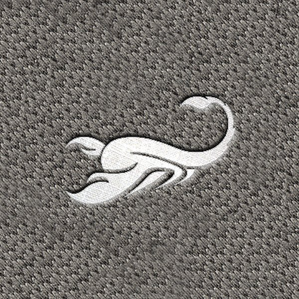"DashMat® - Embroidery ""Scorpio"" White Logo"