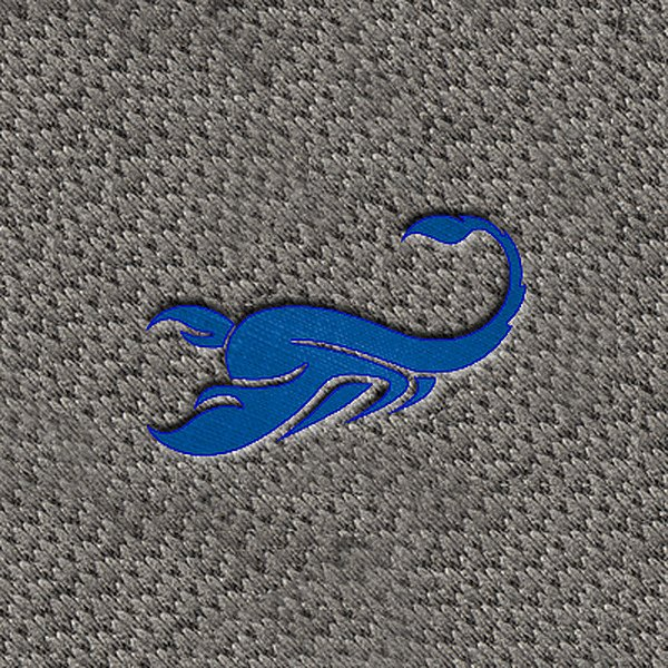 "DashMat® - Embroidery ""Scorpio Blue"" Logo"