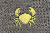 "DashMat® - Embroidery ""Cancer"" Light Yellow Logo"