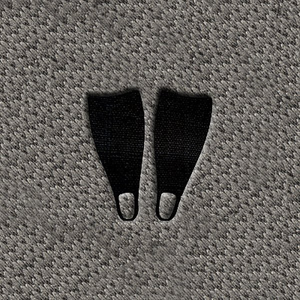"DashMat® - Embroidery ""Dive Flippers"" Black Logo"
