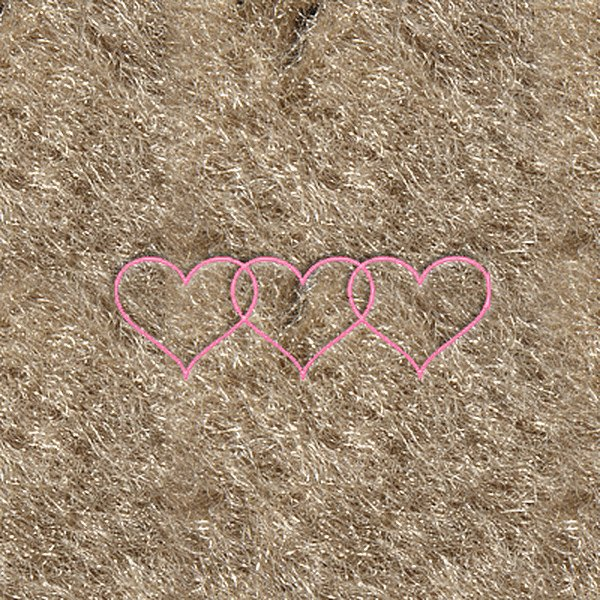 "DashMat® - Embroidery ""3 Hearts"" Logo"