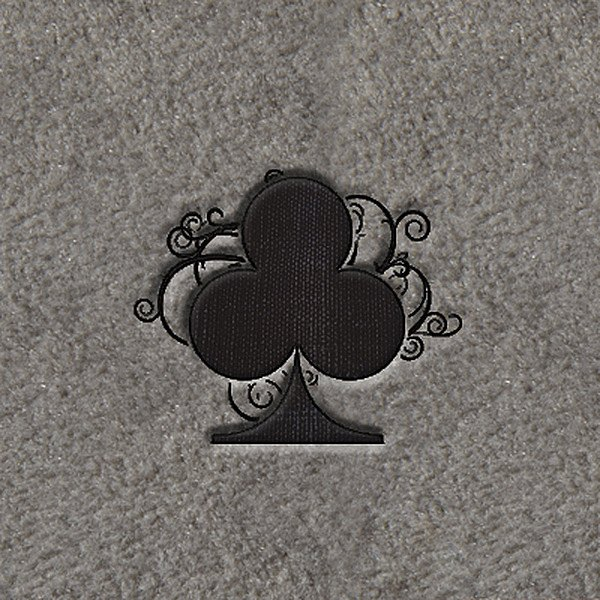 "DashMat® - Embroidery ""Black Poker Club"" Logo"
