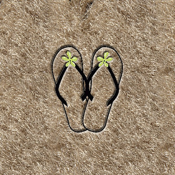 "DashMat® - Embroidery ""Flipflops with Green"" Logo"