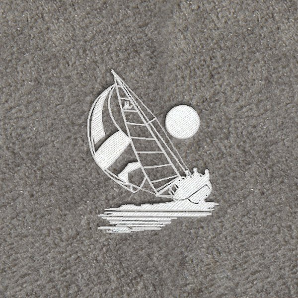 "DashMat® - Embroidery ""Sailboat"" White Logo"