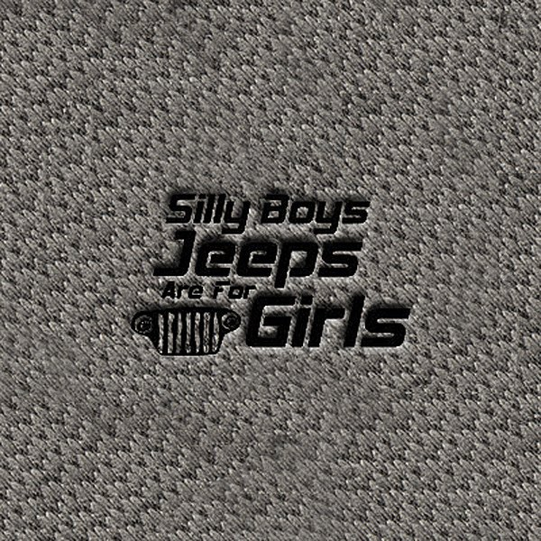"DashMat® - Embroidery ""Silly Boys…"" Black Logo"