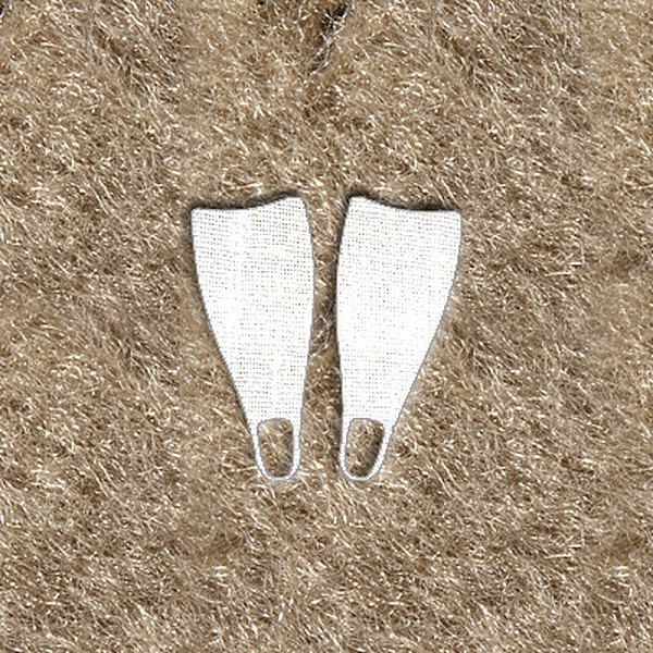 "DashMat® - Embroidery ""Dive Flippers"" White Logo"