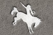 "DashMat® - Embroidery ""Bucking Horse"" White Logo"