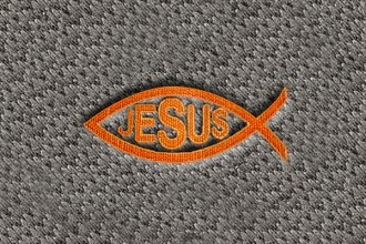 "DashMat® LS416 - ""Fish with Jesus"" Embroidered Logo"